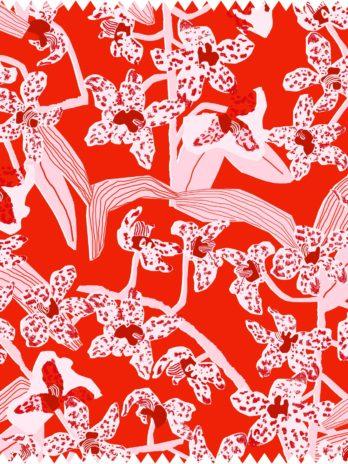 Daphne (Crimson) Fabric