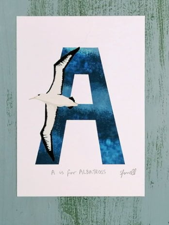 A is for Albatross A5 Print