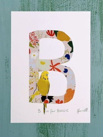 B is for Budgie A5 Print