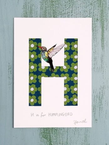 H is for Hummingbird A5 Print