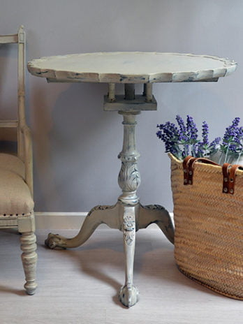 French Style Mahogany Fliptop Occasional Table