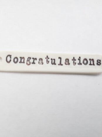 Rhian Winslade Congratulations Porcelain Label