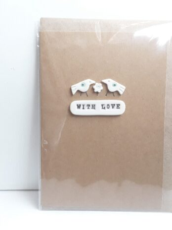 With Love Card – 2 Birds 1 Flower