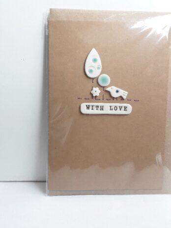 With Love Card – Bird + Tree