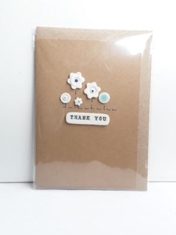 Thank You Card – Flower Hedge