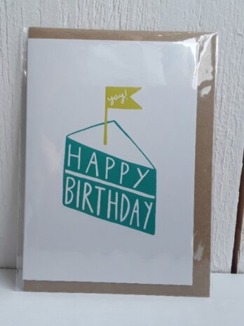 Cake And Flag Happy Bday Card