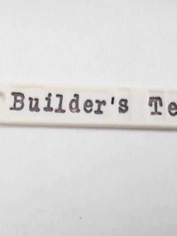Rhian Winslade Builder's Tea Porcelain Label