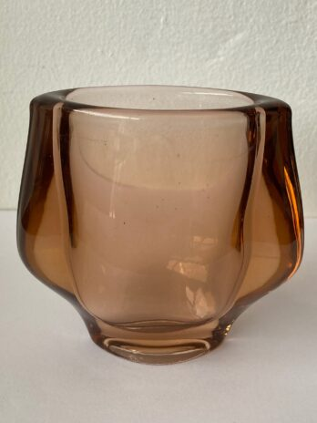 Czech Smoked Brown Glass Vase