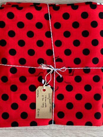 Fabric Remnant – Ladybird Cotton