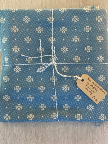 Fabric Remnant – Blue Zoffany Print