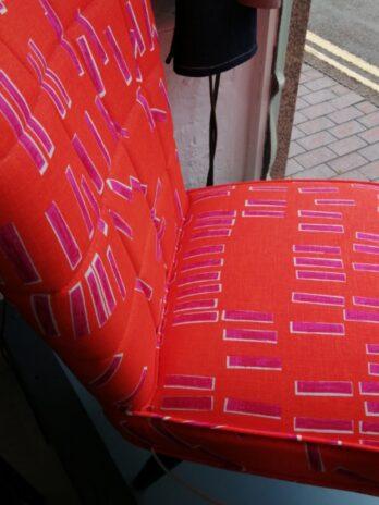 Orange Tab Occasional Chair – Sarah Fennell Fox