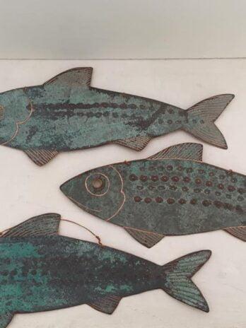Nicki Shipp – Small Copper Fish Decoration