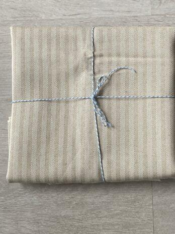 Beige Upholstery Linen/Silk Stripe