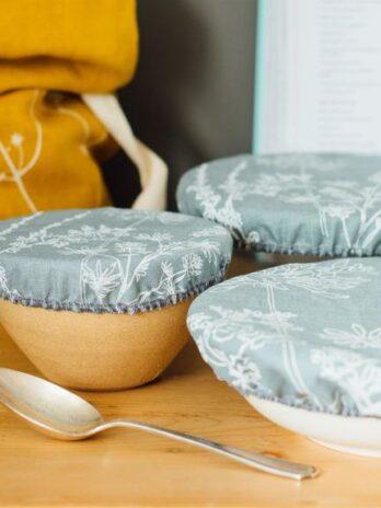 Helen Round – Reusable Linen Bowl Covers