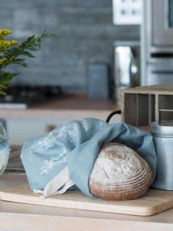 Helen Round – Breathable Linen Bread Bag