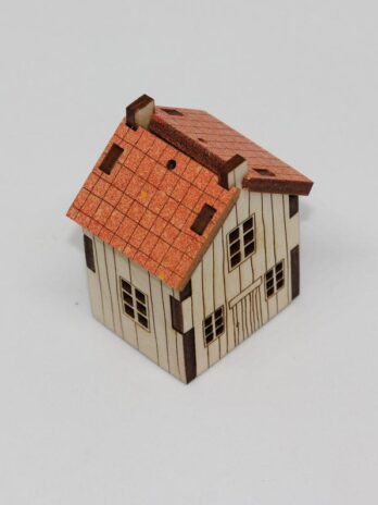 Katie Whittaker Orange Roof Miniature Cabin