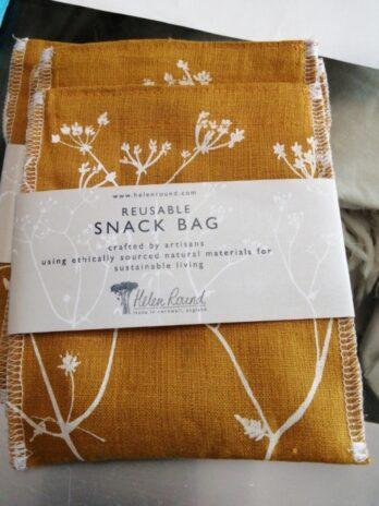 Helen Round – Reusable Linen Snack Bag