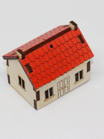 Katie Whittaker Red Roof Miniature Cabin