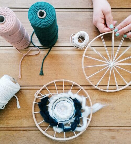 Circular Weaving Workshop at The Bolthole