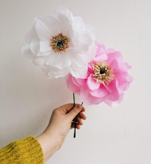 Paper Peonies Papercraft Workshop at The Bolthole