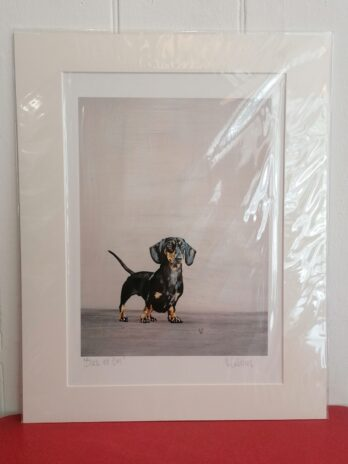 Black and Tan Print by Victoria Coleman