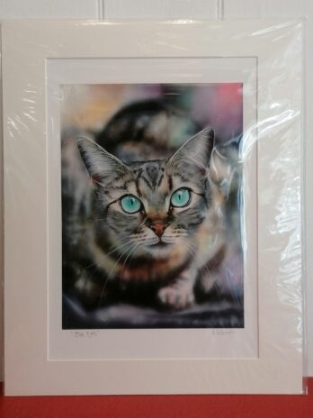 Blue Eyes Print by Victoria Coleman