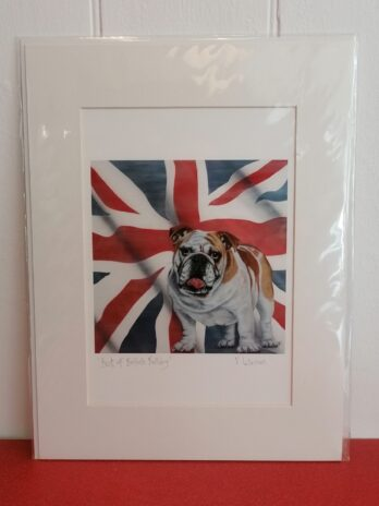 Best of British Bulldog Print by Victoria Coleman