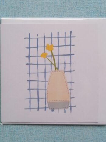 Flowers In Vase Blank Card