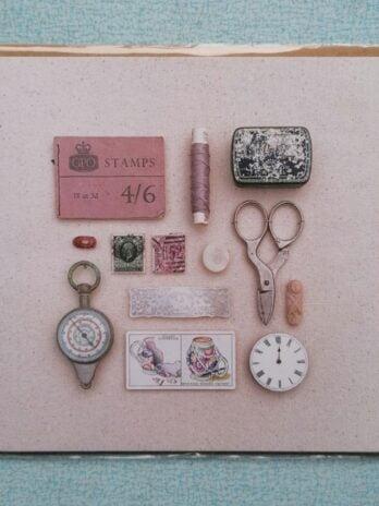 Ladies Powder Room Blank Card