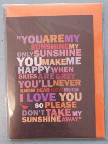 You Are My Sunshine – Hello Monkey